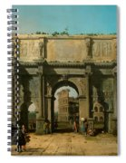View Of The Arch Of Constantine With The Colosseum Spiral Notebook