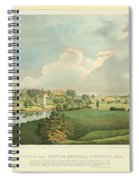View Of The Battle Ground At Concord Mass Spiral Notebook
