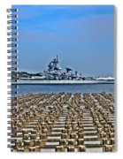 View Of The Battleship New Jersey From Philadelphia Spiral Notebook