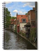 View Of The Canal From Maria Brug On Katelijnestraat In Bruges Spiral Notebook