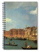 View Of The Canal Of Santa Chiara Spiral Notebook