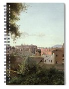 View Of The Colosseum From The Farnese Gardens Spiral Notebook