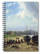View Of The Dutch Coast Spiral Notebook