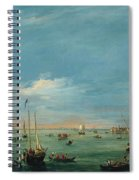 View Of The Giudecca Canal And The Zatter Spiral Notebook