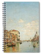 View Of The Grand Canal Of Venice Spiral Notebook