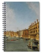 View Of The Grand Canal Venice With The Fondaco Dei Tedeschi Spiral Notebook
