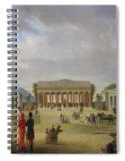 View Of The Grand Theatre Constructed In The Place De La Concorde For The Fete De La Paix Spiral Notebook