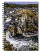 View Of The Great Falls Spiral Notebook