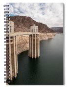 View Of The Hoover Dam Lake With Low Water Reserves Spiral Notebook