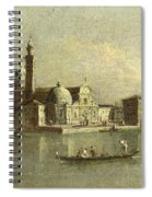 View Of The Isola Di San Michele In Venice Spiral Notebook