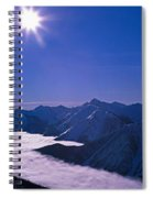 View Of The Kicking Horse Resort Spiral Notebook
