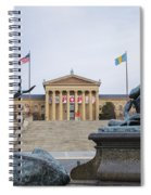 View Of The Museum Of Art In Philadelphia From The Parkway Spiral Notebook