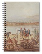 View Of The New Port Of Toulon Spiral Notebook