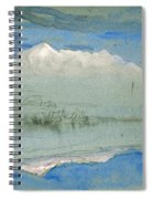 View Of The Old Man At Coniston As Seen From Brantwood House Spiral Notebook