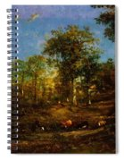 View Of The Pastures Of The Limousin 1835 Spiral Notebook