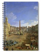 View Of The Piazza Navona Spiral Notebook