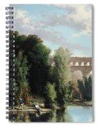 View Of The Pont Du Gard Spiral Notebook