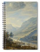 View Of The Rhine River Near Reineck Spiral Notebook