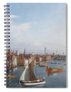 View Of The River Thames With St Paul's And Old London Bridge   Spiral Notebook