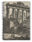 View Of The So-called Temple Of Concord With The Temple Of Saturn, On The Right The Arch Of Septimiu Spiral Notebook