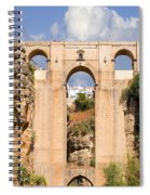 View Of The Tajo De Ronda And The Puente Nuevo Bridge From Across The Valley Spiral Notebook