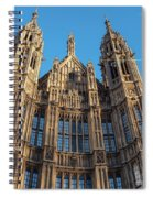 View Of The Top Detail Of The Parlament House In London Spiral Notebook