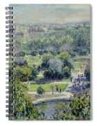 View Of The Tuileries Gardens Spiral Notebook