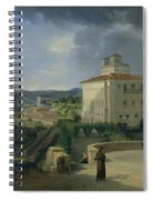 View Of The Villa Medici In Rome Spiral Notebook