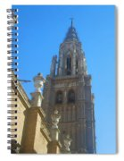 View Of Toledo Cathedral In Sunny Day, Spain. Spiral Notebook