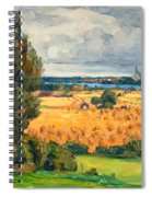 View Of Vadstena From The Surrounding Fields Spiral Notebook
