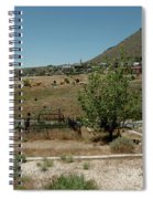 View Of Virginia City Nv From The Final Resting Place Spiral Notebook