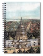 View Of Washington Dc Spiral Notebook