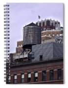 View Of Water Tank From High Line Park Spiral Notebook