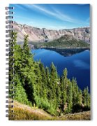 View Of Wizard Island Crater Lake Spiral Notebook