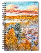 View Of Yosemite National Park Spiral Notebook