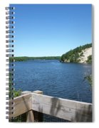 View On The Au Sable Spiral Notebook