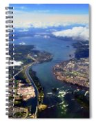 View Over Lasalle Montreal Spiral Notebook