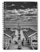 View Over The Pier Mono Spiral Notebook