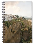 View Over The Tajo Gorge Ronda Home Of Bullfighting Spiral Notebook