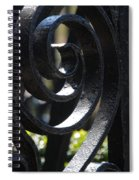 View Through The Iron Fence Spiral Notebook