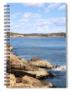 View To Sand Beach Spiral Notebook