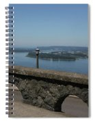 View To The West Of Crown Point Spiral Notebook