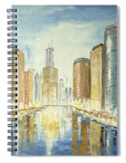 View Up The Chicago River Spiral Notebook