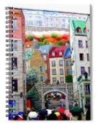 Viewing A Mural At La Fresque Des Quebecois Spiral Notebook
