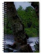 Viewing Tahquamenon Lower Falls Upper Peninsula Michigan Panorama 02 Spiral Notebook