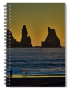 Vik Sea Stacks At Dusk - Iceland Spiral Notebook