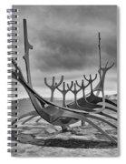 Viking Ship Sculpture Spiral Notebook