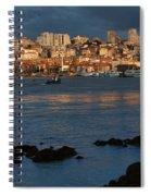 Vila Nova De Gaia In Portugal At Sunset Spiral Notebook