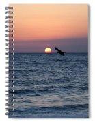 Vilano Beach At Sunrise Spiral Notebook