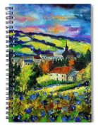 Village And Blue Poppies  Spiral Notebook